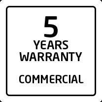 Garantie 5 ans pour un usage commercial